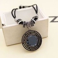 Vintage fashion double layer gem necklace female short design chain fashion crystal accessories