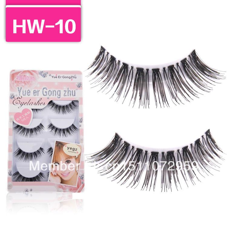 Handmade 5 Pair Natural Long False Eyelashes Fake Eye Lashes Eyelash HW10(China (Mainland))