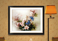 Needlework 3D cross stitch cross stitch kit painting print cross stitch blue butterfly