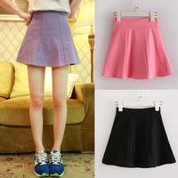 Candy color short umbrella bust skirt high waist slim hip white vintage black spring and summer solid color elastic plus size