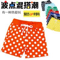 2014 summer dot clothing boys girls clothing baby child single-shorts shorts trousers kz-2050