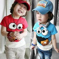 Free shipping new 2014 fashion summer boys clothing girls clothing baby child t-shirt short-sleeve T-shirt baby & kids t shirt