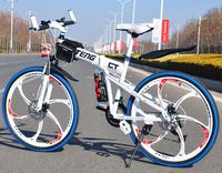 Mountain bikes humvees one piece wheel 26 mountain bike 21 variable speed folding disc road bike car