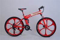 26 mountain bike x9 carbon steel frame one piece round folding spokes mountain bike