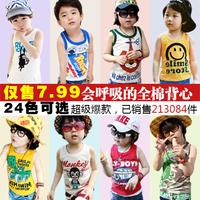 2014 summer cartoon boys clothing girls clothing baby child vest sleeveless t-shirt tx-1798