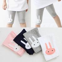 Free shippping new 2014 summer rabbit girls clothing baby child capris 5 pants legging baby pants children pant baby & kids pant
