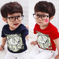 Free shipping new 2014 summer letter boys clothing baby child short-sleeve T-shirt boy's t-shirt baby & kids t-shirt