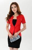 Free shipping 2014 new women suits fashion business suits formal office uniform style blazer women work wear