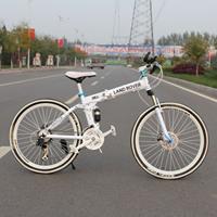 Standard edition 26 folding mountain bike carbon steel double shock absorption 21 24 disc variable speed mountain bike
