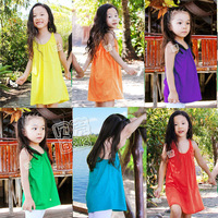 Free shpping fashion new 2014 summer all-match children's dress child clothing girls dresses baby & kids one-piece dress