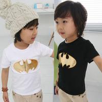 Free shipping fashion new 2014 summer bat boys clothing girls clothing baby child short-sleeve T-shirt baby & kids t shirts