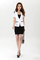 Free shipping 2014 new fashion business suits formal officeuniform style blazer women work wear