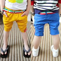 2014 summer belt boys clothing baby child capris casual pants kz-3400