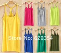 Sexy New Womens Fashion Slim All-Match Cotton Vest Cool Pure Color