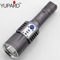 YUPARD XM-L2  Flashlight Torch USB charge  5modes mobile power 18650 battery 2000Lms Intelligent flashlight