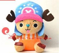 25cm blue tony tony chopper girlfriend's gift kids toy kids doll birthday presents one piece free shipping
