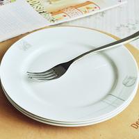 High quality French bone china tableware fashion 8 ceramic fish scodella plate round