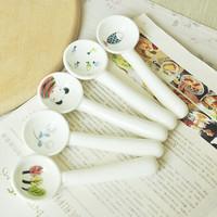 Porcelain cartoon lusterware thickening cream spoon milk powder spoon small spoon watermelon spoon