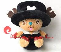 25cm black  tony tony chopper girlfriend's gift kids toy kids doll birthday presents one piece free shipping