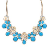 Fashion sweet small fresh short design gem exquisite rose necklace fashion accessories female