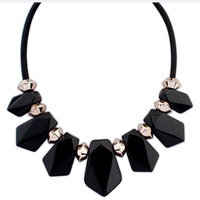 Star gem short design necklace geometry color candy elegant tassel necklace accessories female