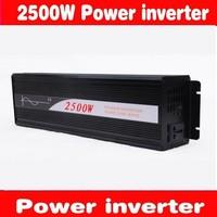 HOT SALE!! 2500W Off Inverter Pure Sine Wave Inverter DC12V to 220V  50HZ input, Wind Solar Power Inverter