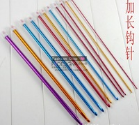"11pcs 14""/35CM Colorful Aluminum TUNISIAN / AFGHAN Crochet Hooks Needles 2- 8mm"