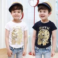 2014 summer personalized pattern boys clothing baby child short-sleeve T-shirt tx-3097 basic shirt