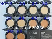 Best selling fashion cosmetics professional brand mc makeup fashion concealer studio finish 7g Spf35 NC Set 30pcs\lot