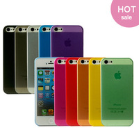 Min.order is 1 piece Hot For iPhone 5 5s 4 4s Ultra thin case 0.3mm for iphone 5G 5s 4G case ten colors to choose free shipping