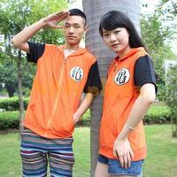 Anime Dragon ball Top Short  Sleeve Summer  Men Unisex Leisure hoodies Cosplay Costume Sport T-shirt Free Shipping