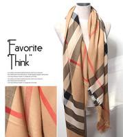 New 2014 Classic Brand Plaid Print Scarf Women Square Check Scarves Cashmere Pashmina Scarfs Wraps Shawls Free Shipping A3608