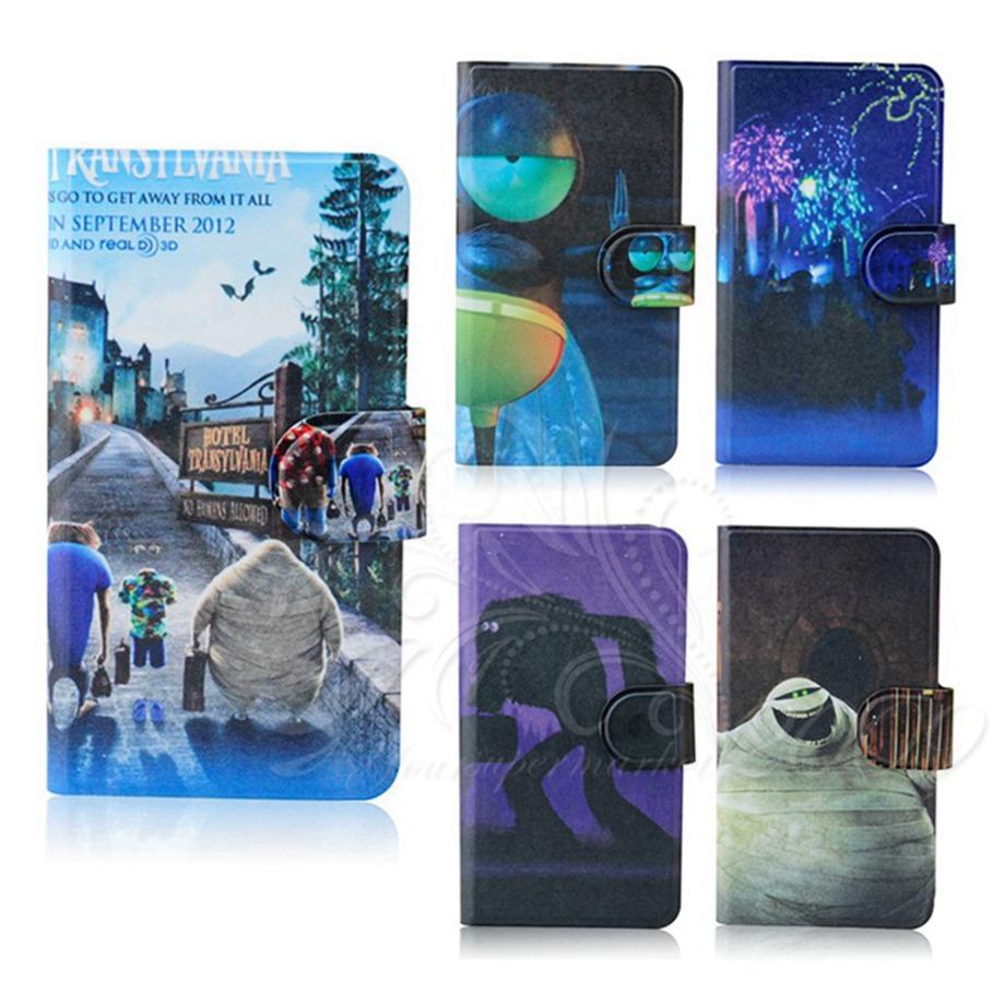 3D skull monster spirit holder lovely cartoon leather flip mobile phone cover case for Samsung Galaxy S3 i9300 i9308(China (Mainland))