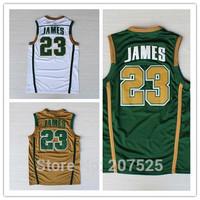 Lebron James High School Jersey #23,  Embroidery Logos Cheap Basketball Jerseys For Men Cool Basketball Shirt
