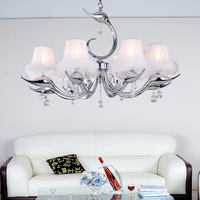 Wrought iron crystal pendant light living room pendant light restaurant lamp lighting lamps fashion crystal pendant light