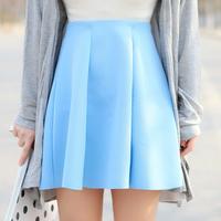 Free shipping 14 summer coveredbuttons all-match solid color short skirt bust skirt pleated skirt a-line skirt 4 q10