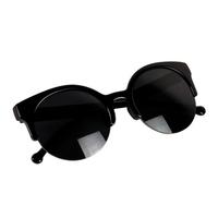 Free Shipping Fashionable Sexy Retro Style Round Circle Cat Eye Sunglasses Retail/Wholesale