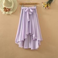Free shipping Summer pleated expansion skirt irregular chiffon bust skirt fairy skirt bohemia midguts women's plus size