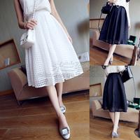 Free shipping 2014 spring women's slim medium skirt puff skirt gauze female skirt bust skirt