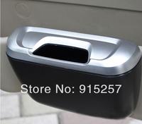 frees shipping car use trash bin In stock 1pcs Mini Car Trash Bin Garbage Can Black Blue silvery