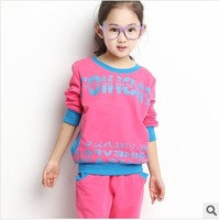 Genuine Kids Spring 2014 female Tong Chunqiu the size of children's sports English Girls two-piece dress casual