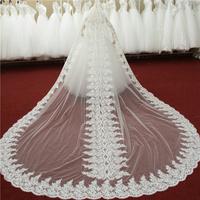 Laciness veil 4 meters ultra long wedding dress veil wedding qi veil