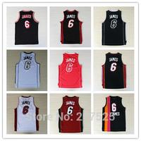 Miami #6 LEBRON JAMES Sport Jersey, James Home Away Alternate Basketball Jersey Men's Basketball Shirt