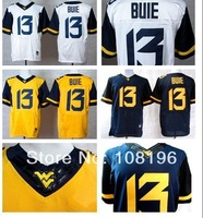 New West Virginia Mountaineers (WVU) 13 Andrew Buie College Football Elite Jerseys size M~XXXL free shipping