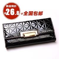 Women's wallet female long design 2014 fashion plaid women's wallet Women wallet  Drop shipping
