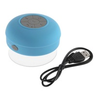 1 Pcs blue Waterproof Wireless Bluetooth Handsfree Mic Suction Speaker Shower Car mic Newest DropShipping