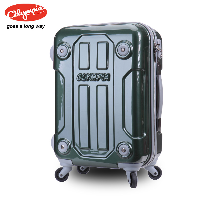 """Free shipping Olympia travel bag universal wheels ABS+PC trolley luggage fashion luggage suitcase check box21""""(China (Mainland))"""