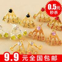 Min $10 Accessories sparkling diamond kiss rhinestone diamond earring stud earring earrings zhaohao female