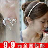 Accessories fashion rhinestone full rhinestone irregular heart stud earring love openings earring earrings