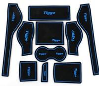 Chery Tiggo Rubber car mat car anti slip mat, non-slip mats Interior door pad/cup mat for Tiggo 10pcs